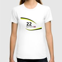 f1 T-shirts featuring F1 Legends - Jenson Button [Brawn] by MS80 Design