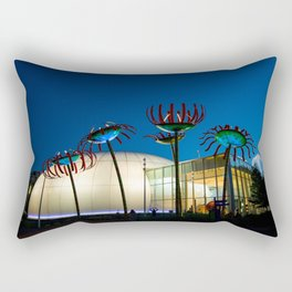 Seattle Glass Flowers Space Needle Rectangular Pillow