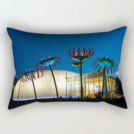 Seattle Glass Flowers Space Needle Rectangular Pillow