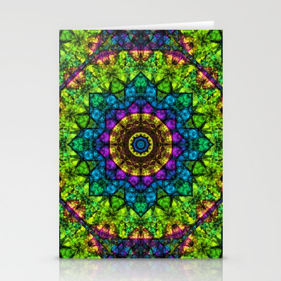 kaleidoscope Crystal Abstract G50 Stationery Cards