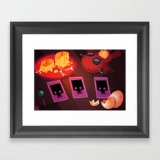 Voodoo table Framed Art Print