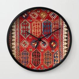 Borjalou Kazak  Azerbaijan Southwest Caucasus Rug Print Wall Clock