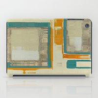 mid century modern iPad Cases featuring Mid Century Modern Abstract by Corbin Henry