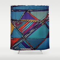 urban Shower Curtains featuring Urban by Julia Tomova