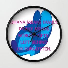 Ohana Means Family Wall Clock