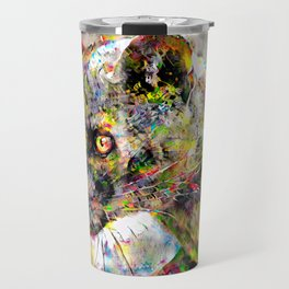 Babou the ocelot Travel Mug