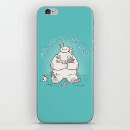 Hairy Baby Day Care Center iPhone Skin