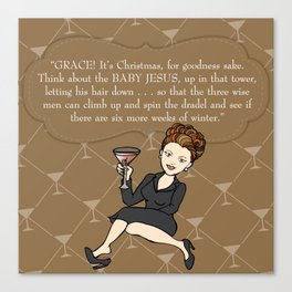 Karen Walker on Christmas . . . Canvas Print