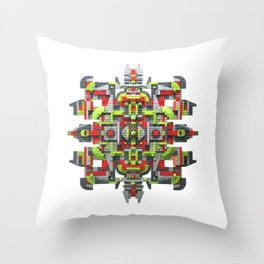 Steampunk Snowflake Throw Pillow