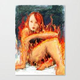 Inspiring Flame  Canvas Print