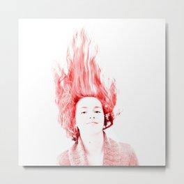 Caroline Audebert on Fire Metal Print