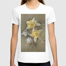 White and yellow columbines T-shirt