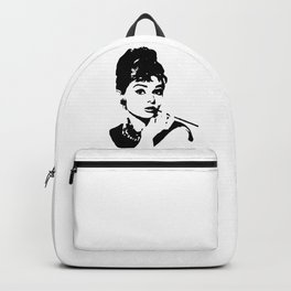 CHRISTMAS WITH  AUDREY THE 1960's FASHION ICON AND MOVIE STAR GIFT WRAPPED FOR YOU BY MONOFACES  Backpack
