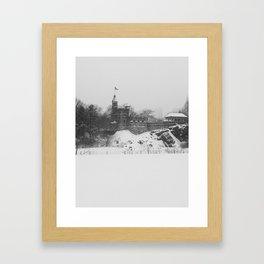 Belvedere Castle Winter 2015 Framed Art Print