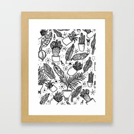 Magic Plants Framed Art Print