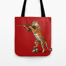 The Hunted becomes the Hunter Tote Bag