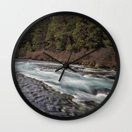 Metolius River near Wizard Falls Wall Clock