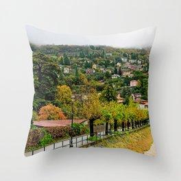 Varenna In The Rain Throw Pillow