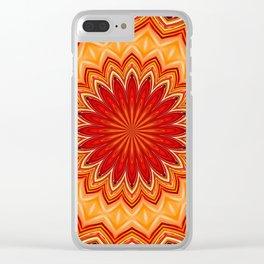 RED STAR MANDALA Clear iPhone Case