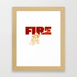 Firefighter Fire Hose Engine Station Brigade Gift Framed Art Print