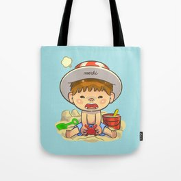 little boy & red crab Tote Bag