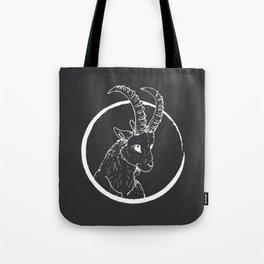 Pen & Ink Goat Tattoo White Tote Bag
