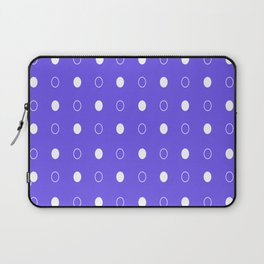Dots pattern - blue and white. Laptop Sleeve