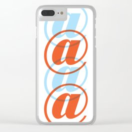 Colorful At Sign Clear iPhone Case