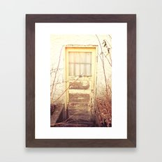 Old Door Framed Art Print