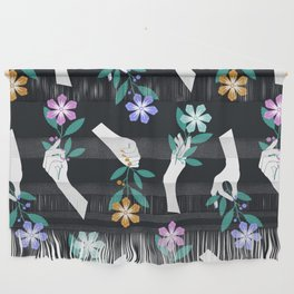 Grasping Flowers Wall Hanging