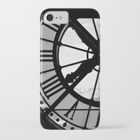 clock iPhone & iPod Cases featuring Clock by DuniStudioDesign