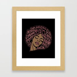 Melanin Goddess T Shirt| Black Pride shirt| Black Girl Power Framed Art Print