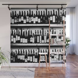 Wine Bottles in Black And White #decor #society6 #buyart Wall Mural