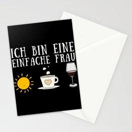 Ich bin eine einfache Frau, Kaffee, Wein Stationery Cards