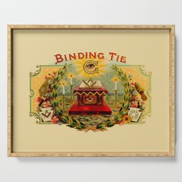 Vintage Cigar Box Art - Binding Tie Serving Tray