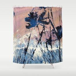 Abstract Flowers Blue Purple Field Lavender Landscape by Jodi Tomer Shower Curtain