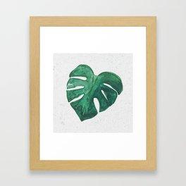 Monstera Leaf Framed Art Print