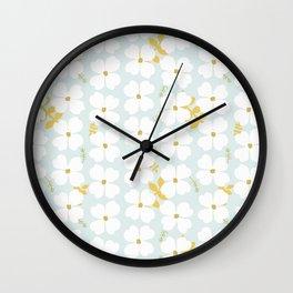 Dogwood Blossom  Wall Clock