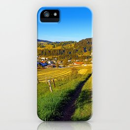 Path down to the village iPhone Case