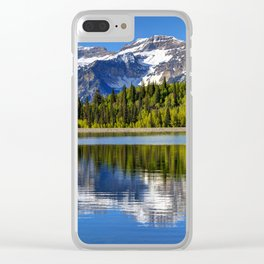 Mt. Timpanogos Reflected In Silver Flat Reservoir - Utah Clear iPhone Case