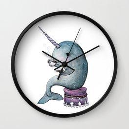 Narwhal Teatime Wall Clock