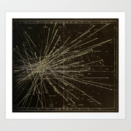 Meteor Shower Art Print