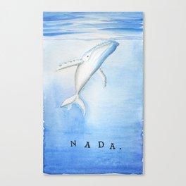 Nada - White Humpback Whale Canvas Print