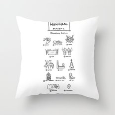 Hannibal - Season 1: Bloodless Edition! Throw Pillow