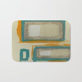 Soft And Bold Rothko Inspired - Modern Art - Teal Blue Orange Beige Bath Mat