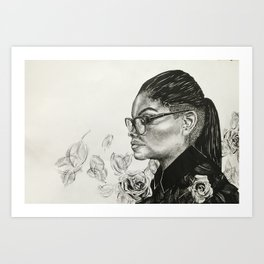 Razors and Roses Art Print