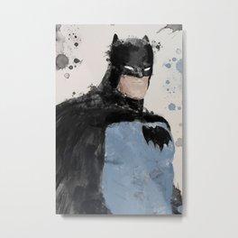 Bats Watercolour Metal Print
