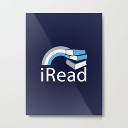 i Read | Book Nerd Slogan Metal Print