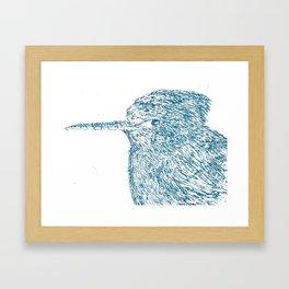Blue Hummingbird Framed Art Print