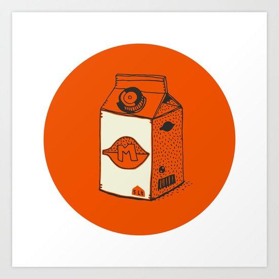 daily foods: milk Art Print